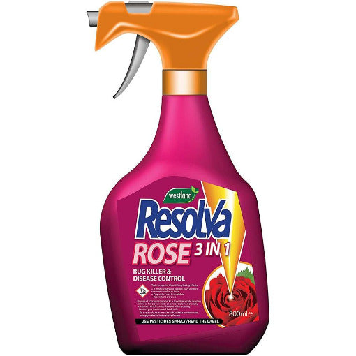 Resolva Rose 3 in 1 in a  800ml  bottle - By Westland