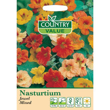 Load image into Gallery viewer, Nasturtium Jewel Mixed Seeds- By Country Value