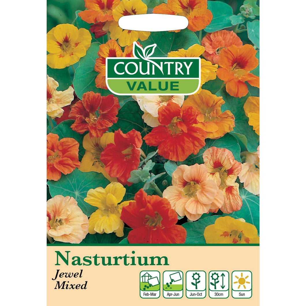 Nasturtium Jewel Mixed Seeds- By Country Value