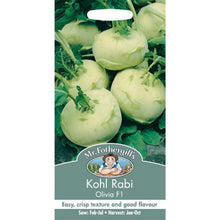 Load image into Gallery viewer, Kohl Rabi Olivia F1 Seeds- By Mr Fothergills