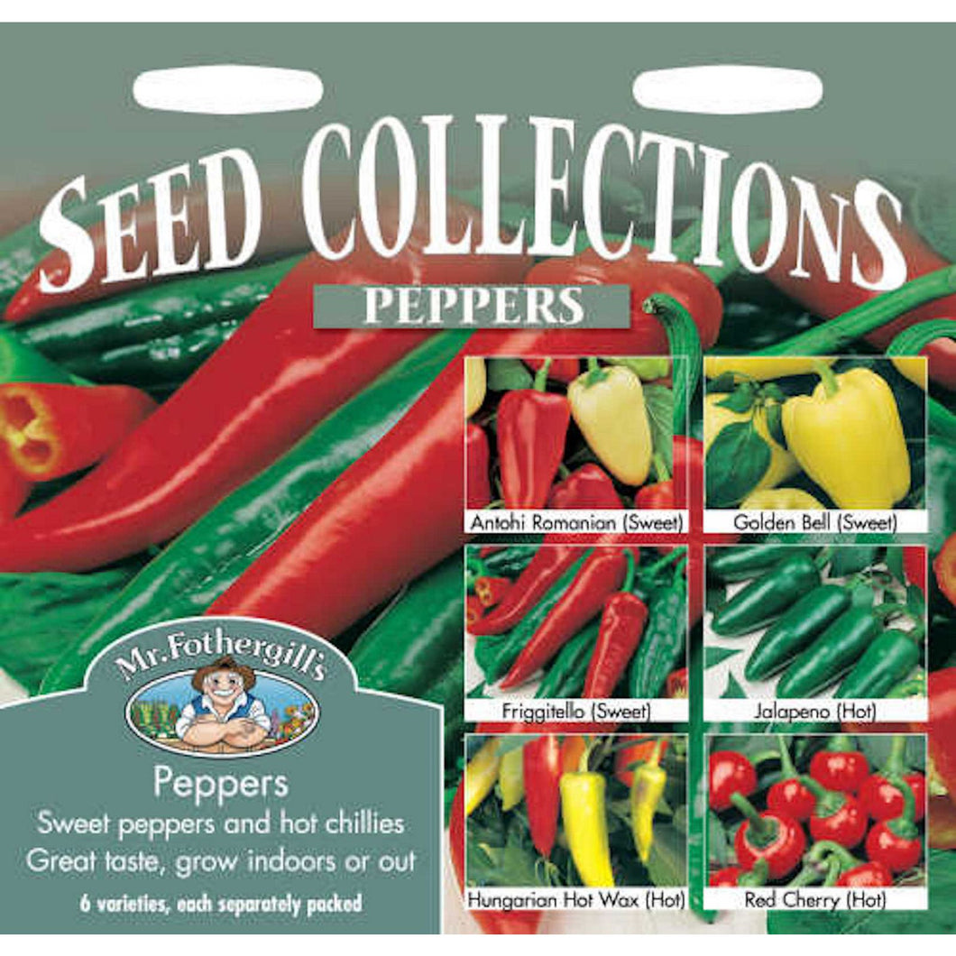 Pepper Collection (Capsicum Annuus) Seeds- By Mr Fothergills