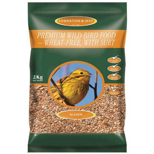 wild bird food wheat free with suet by johnson and jeff