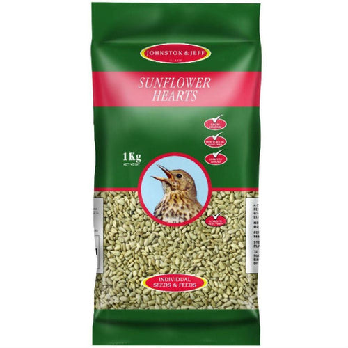 1kg Energy Boost Sunflower Hearts - By Johnston And Jeff - Bells Gardening