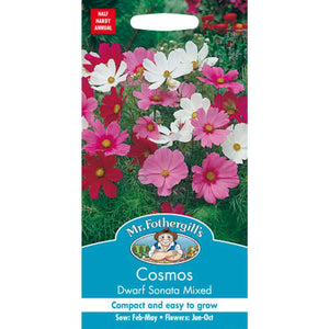 Cosmos Dwarf Sonata Mixed Seeds- By Mr Fothergills