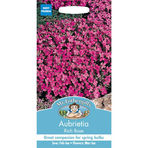 Aubrietia Rich Rose Seeds- By Mr Fothergills - Bells Gardening