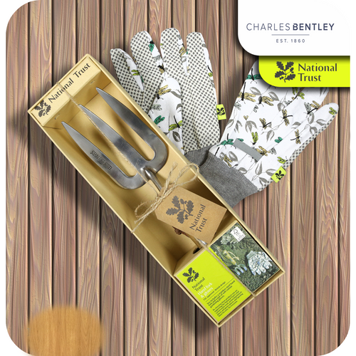 Charles Bentley National Trust Potting Scoop & Gloves Gifts Set