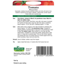 Load image into Gallery viewer, Tomato Moneymaker Seeds- By Country Value