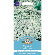 Load image into Gallery viewer, alyssum snow cloth seeds by mr fothergills