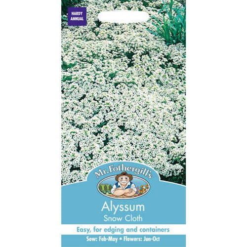 alyssum snow cloth seeds by mr fothergills