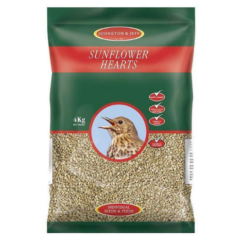 4kg Energy Boost Sunflower Hearts - By Johnston And Jeff - Bells Gardening