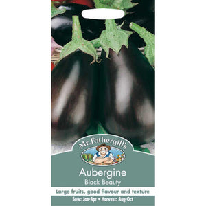 Aubergine Black Beauty seeds- By Mr Fothergills