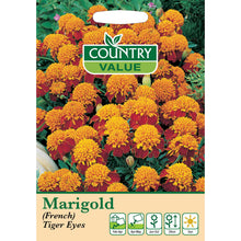 Load image into Gallery viewer, Marigol (French) Tiger Eyes Seeds- By Country Value