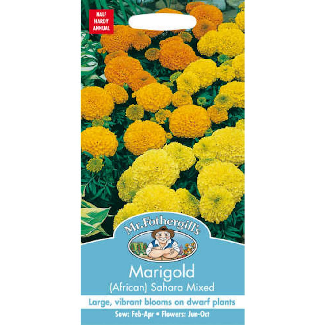 Marigold African Sahara Moxed Seeds- By Mr Fothergills
