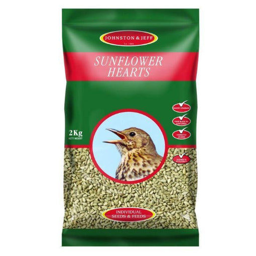 2kg Energy Boost Sunflower Hearts - By Johnston And Jeff - Bells Gardening