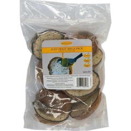 Mega Pack of 8 Coconut Feeders with meal worms By Johnston And Jeff - Bells Gardening