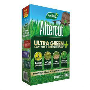 aftercut ultra green help prevent scorching creates a greener and stronger lawn