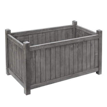 Load image into Gallery viewer, Alderly grey rectangular planter by rowlinson garden products