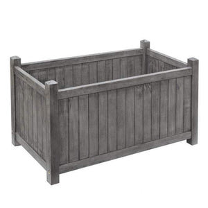 Alderly grey rectangular planter by rowlinson garden products