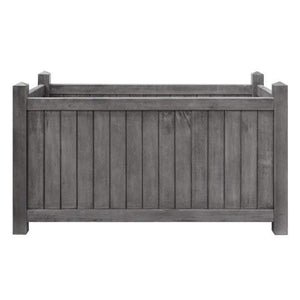 Alderley Grey Rectangular Planter By Rowlinson