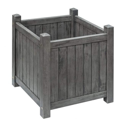 alderley grey square planter by rowlinson garden products