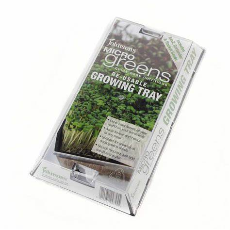 Micro Greens Growing Kit- Basil Coriander & Rocket- By Johnsons