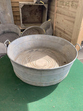 Load image into Gallery viewer, Original Vintage XL Round Metal Tub