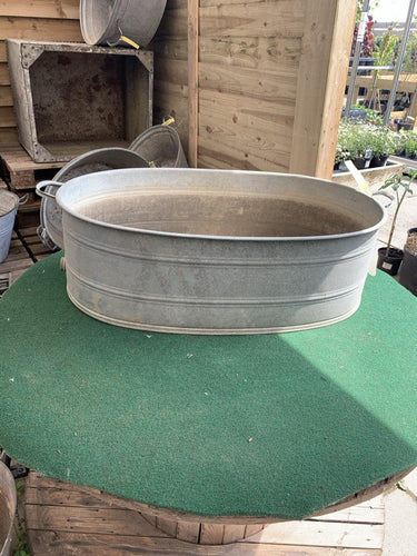 Original Vintage Large Oval Ribbed Tub