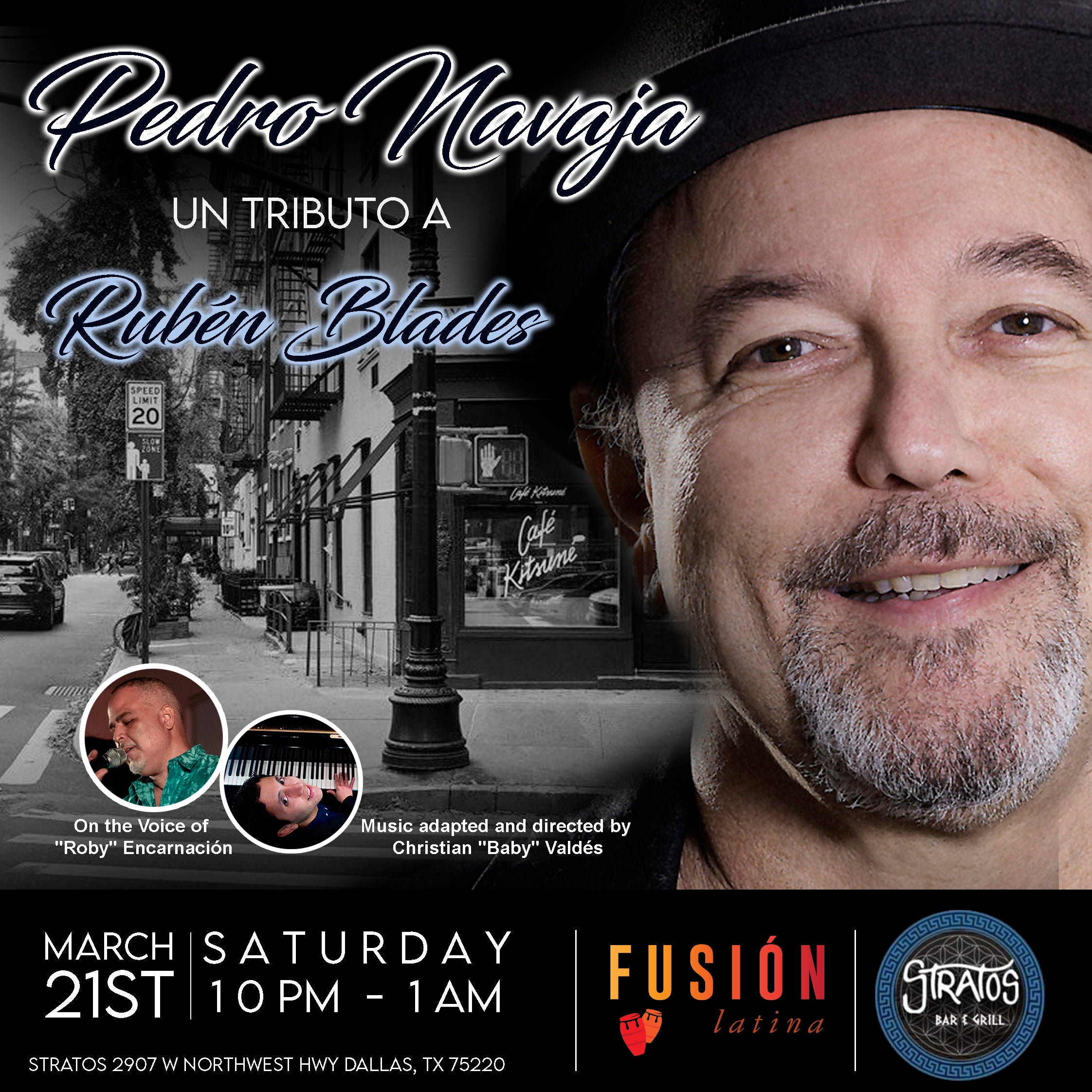 Pedro Navaja: Live Tribute to Ruben Blades ($15 at the Door)