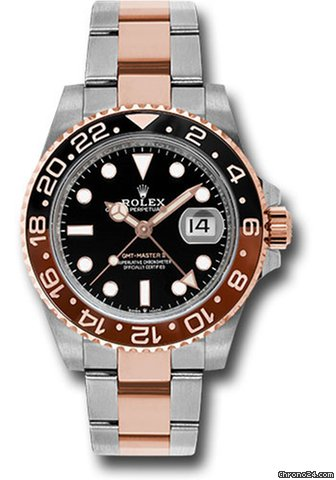Rolex GMT-Master II Everose Gold & Steel Watch 126711CHNR