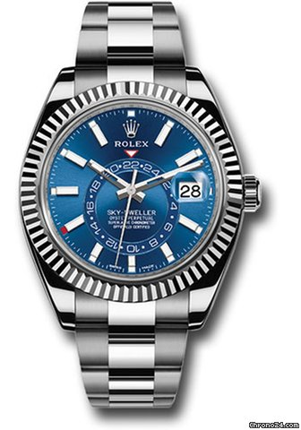 Rolex Sky-Dweller 42mm Blue Dial Stainless Steel 326934