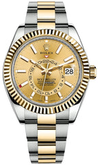Rolex Sky-Dweller 42MM Two Tone Champagne dial 326933