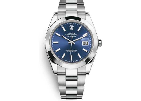 Rolex Datejust 41 mm Stainless Steel Band Blue Dial 126300