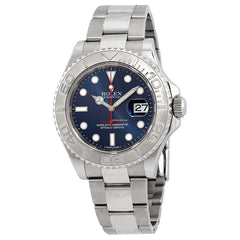 Rolex Yacht-Master 40 New Steel Platinum Blue Dial Mens 116622