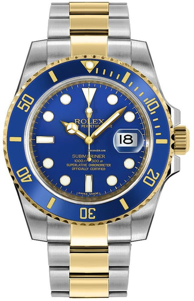 Rolex Submariner Stainless Steel & 18K Yellow Gold Blue Ceramic