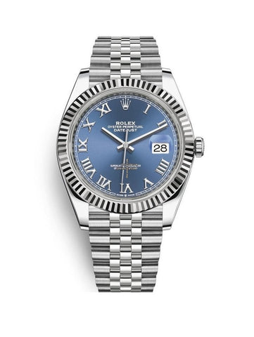 Rolex Datejust 41mm 126334 Stainless Steel Jubilee Blue Roman Dial