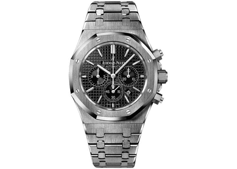 Audemars Piguet Royal Oak Chronograph 41mm Stainless Steel Black Dial - NY WATCH LAB
