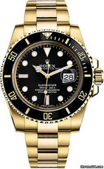 Rolex Submariner Date Yellow Gold Automatic Black Dial 116618LN