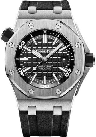 Audemars Piguet Royal Oak Offshore Diver Watch-Black Dial 42mm-15710ST.OO.A002CA.01 - NY WATCH LAB