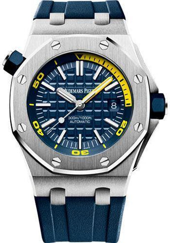 Audemars Piguet Royal Oak Offshore Diver Watch-Blue Dial 42mm-15710ST.OO.A027CA.01 - NY WATCH LAB