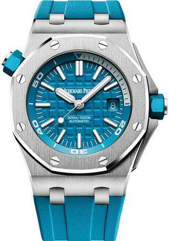 Audemars Piguet Royal Oak Offshore Diver Watch-Blue Dial 42mm-15710ST.OO.A032CA.01 - NY WATCH LAB