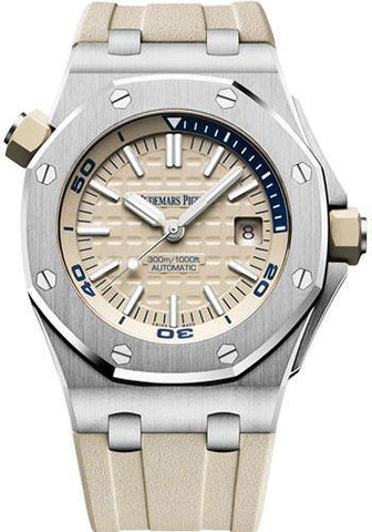 Audemars Piguet Royal Oak Offshore Diver Watch-White Dial 42mm-15710ST.OO.A085CA.01