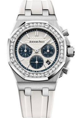 Audemars Piguet Royal Oak Offshore Selfwinding Chronograph Watch-Silver Dial 37mm-26231ST.ZZ.D010CA.01