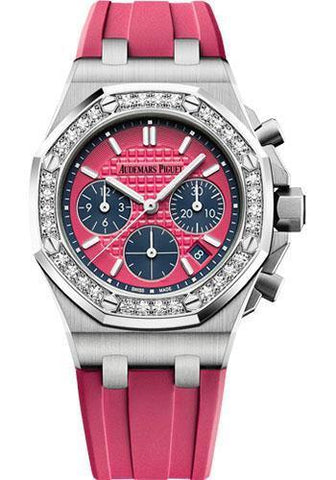Audemars Piguet Royal Oak Offshore Selfwinding Chronograph Watch-Pink Dial 37mm-26231ST.ZZ.D069CA.01 - NY WATCH LAB