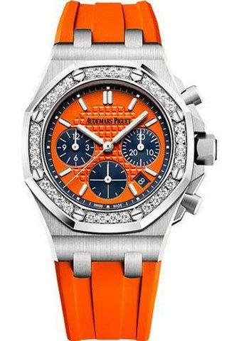 Audemars Piguet Royal Oak Offshore Selfwinding Chronograph Watch-Orange Dial 37mm-26231ST.ZZ.D070CA.01 - NY WATCH LAB