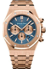 Audemars Piguet 41MM Royal Oak Blue Dial Chronograph Watch