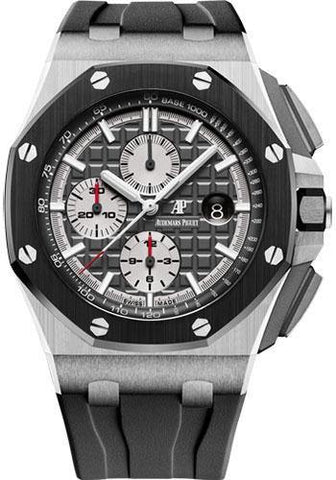 Audemars Piguet Royal Oak Offshore Chronograph Watch-Rhodium Dial 44mm-26400IO.OO.A004CA.01 - NY WATCH LAB