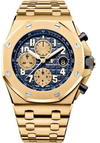 Audemars Piguet Royal Oak Offshore Chronograph Watch-Blue Dial 42mm-26470BA.OO.1000BA.01 - NY WATCH LAB