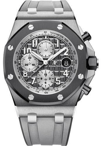 Audemars Piguet Royal Oak Offshore Selfwinding Chronograph Watch-Grey Dial 42mm-26470IO.OO.A006CA.01 - NY WATCH LAB