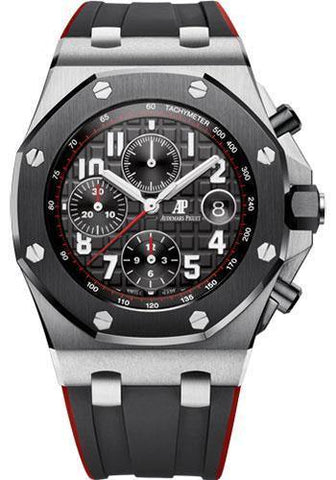 Audemars Piguet Royal Oak Offshore Selfwinding Chronograph Watch-Black Dial 42mm-26470SO.OO.A002CA.01 - NY WATCH LAB