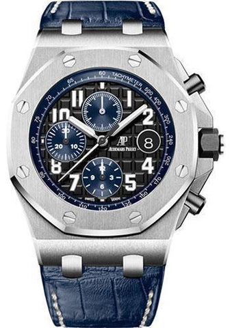 Audemars Piguet Royal Oak Offshore Chronograph Watch-Black Dial 42mm-26470ST.OO.A028CR.01 - NY WATCH LAB